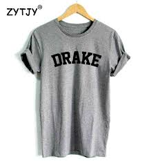 aliexpress com buy drake letters print women tshirt cotton
