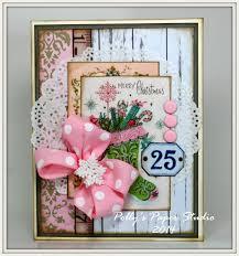shabby chic pink christmas creativity kit polly u0027s paper studio