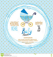 Baby Invitation Card Design Baby Shower Boy Vector Invitation Card Stock Vector Image 77876995