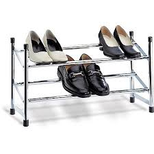 Shoe Rack by Neu Home Expandable Shoe Rack Chrome Walmart