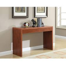 Two Sofa Living Room Cherry Finish Sofa Table Modern Living Room Console Table