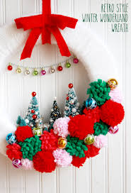 vintage style winter wonderland wreath wreaths retro and winter