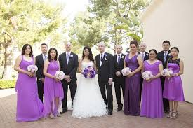 wedding party attire guests family photos purple wedding party attire inside weddings