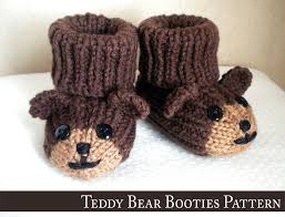 Rugged Bear Baby Shoes Teddy Bear Baby Booties Knitting Pattern I Don U0027t Normally Pin