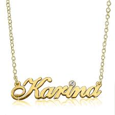 Custom Necklace Name Name Necklace 18 K Gold 925 Sterling Silver Diamond Custom Made