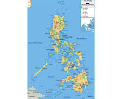 Physical Map Of Southwest Asia by Maps Of Philippines Detailed Map Of Philippines In English