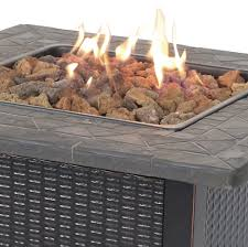 Fire Pit Rocks by Endless Summer Decorative Push Button Outdoor Lp Gas Fire Pit