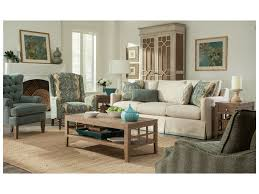 paula deen by craftmaster p762800 skirted sofa with ribbon trim