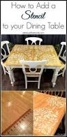 How To Add A Kitchen Island Best 20 Stenciled Dining Table Ideas On Pinterest Dive Store