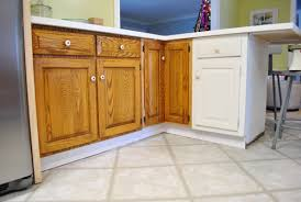 kitchen cabinet baseboards adding toe kicks a window sill house
