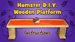 hamster d i y wooden platform instructions youtube