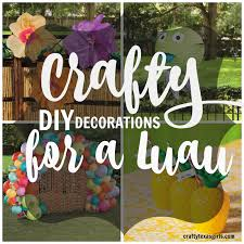 luau decorations crafty luau party diy decorations