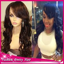 body wave hair with bangs 7a black ponytail wig with bangs full lace peruvian virgin hair