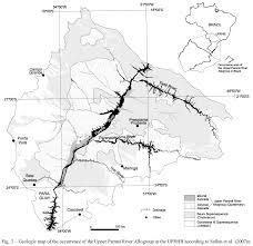 parana river map quaternary colluvial episodes paraná river hydrographic