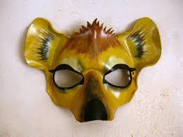 hyena leather mask animal mask or child sizes