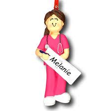 amazon com ornament central oc 230 fbr female scrubs nurse