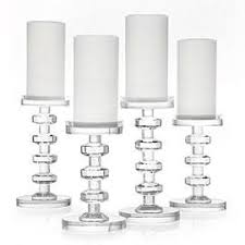 Crystal Candle Sconces Cristallo Pillar Crystal Candle Holders