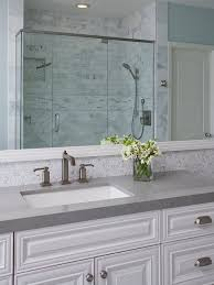 Grey Countertop Bathroom With Grey Countertop Bathroom Grey - White cabinets bathroom design