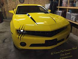 custom camaro accessories decal dino headlight scar xl kit custom stickers beast and muscles