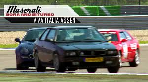 old maserati biturbo maserati bora and biturbo racing in top gear on the tt circuit