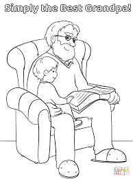simply the best grandpa coloring page free printable coloring pages