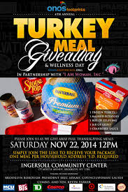 4th annual thanksgiving turkey meal giveaway onos footprints