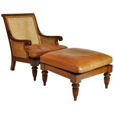 british colonial imports caned leather plantation style lounge