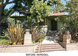 Front Yard Desert Landscape Mediterranean Exterior Remodeled 1910 Craftsman Pairs Classic Features Open Layout Is