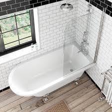 the bath co dulwich freestanding shower bath and bath screen