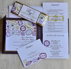 pocket fold wedding invitation design fee monogram passport