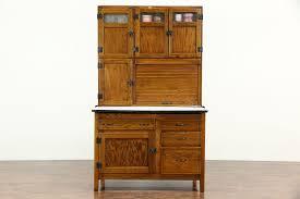 kitchen pantry cabinet oak hoosier oak antique kitchen pantry cupboard roll top flour sifter enamel top