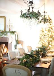 Farmhouse Table Centerpiece Dining Room Rustic With Arched Doorway 40 Cozy And Cheerful Homes Decorated For A Snowy Christmas