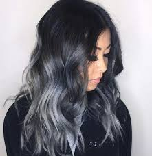 black hair with grey streaks red hair with gray highlights hairstyle ideas