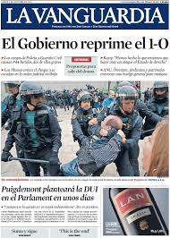 Challenge La Vanguardia Catalonia Headlines For October 2017 Aftermath Of Referendum On