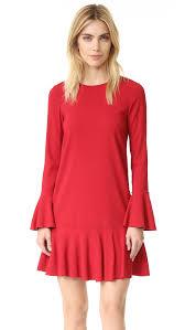 christie brinkley looks red in minidress at festive christmas