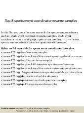 Event Coordinator Resume Sample by Top 8 Medical Billing Coordinator Resume Samples