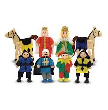 wooden castle figure set doug
