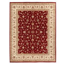 home decorators collection maggie red 7 ft 10 in x 10 ft area