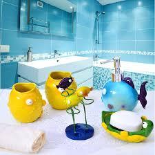 vibrant fishing bathroom accessories fashion resin bathroom set