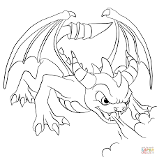 spyro coloring pages skylanders spyro coloring page free printable