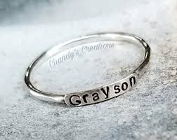 stackable mothers rings with names 2mm sterling silver stackable name rings s rings