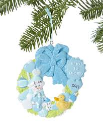 treasured ornaments blue baby s 1st personalized