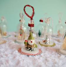 diy plastic wine glasses into snow globes christmas