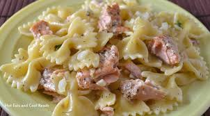 eats and cool reads salmon and pasta with lemon dill sauce recipe
