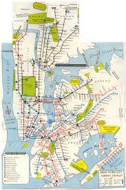 Map Nyc Subway by Irvingtrust July68 Png