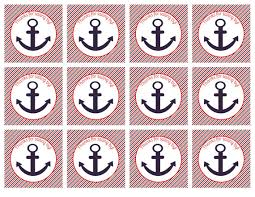 nautical gift bags nautical baby shower favor gift tag nautical anchor favor gift