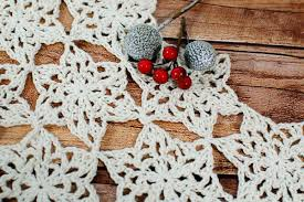 Crochet Table Runner Pattern Snowflake Table Runner Crochet Pattern Petals To Picots
