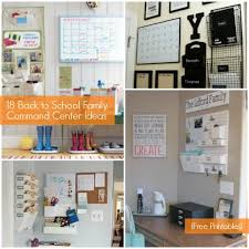 center ideas family command center ideas and free organization printables