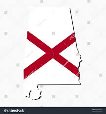 Alabama State Map Map Flag State Alabama Stock Vector 34087849 Shutterstock