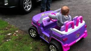 power wheels jeep frozen lylly u0027s rc princess jeep youtube